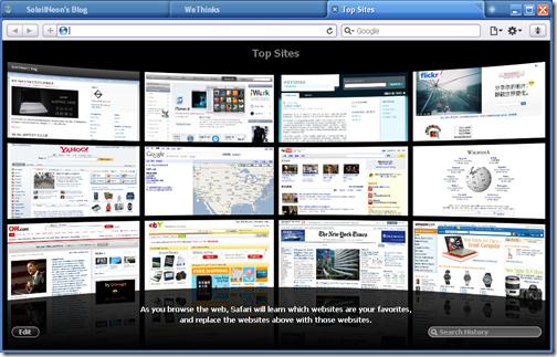 Safari 4 Beta Top Sites