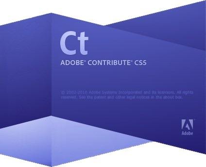 Adobe Contribute CS5 Splash Scrrenshot