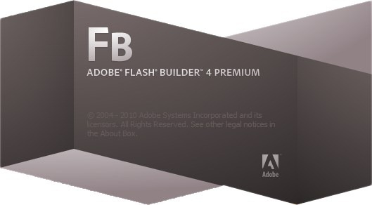 Adobe Flash Builder 4 Splash Screenshot