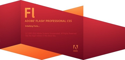 Adobe Flash CS5 Splash Screenshot