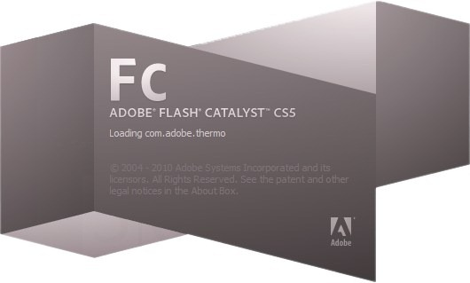 Adobe Flash Catalyst CS5 Splash Screenshot