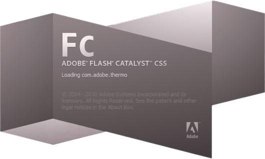 Adobe Flash Catalyst CS5 Splash Screenshot