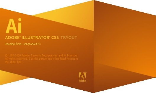 Adobe Illustrator CS5 Splash Screenshot