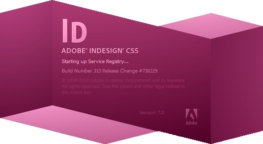 Adobe InDesign CS5 Splash Screenshot