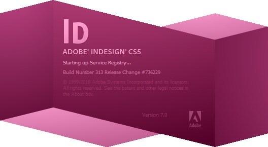 Adobe InDesign CS5 Splash Screenshot
