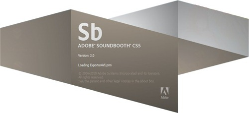 Adobe Soundbooth CS5 Splash Screenshot