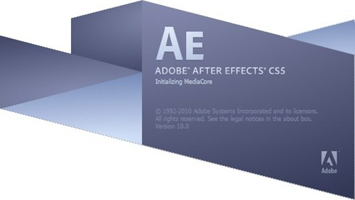Adobe After Effects CS5 Splash Scrrenshot
