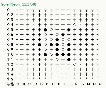 在QQ窗口中下五子棋