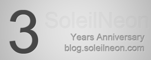 SoleilNeon Blog 3 Years Anniversary