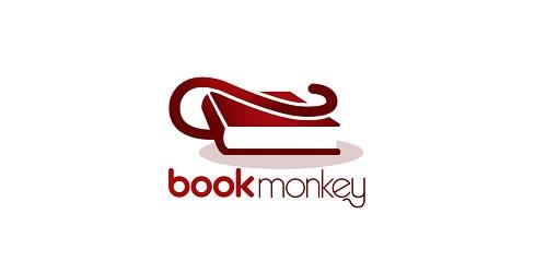 12 red creative logo Book Monkey