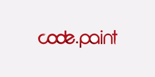 12 red creative logo Code Paint
