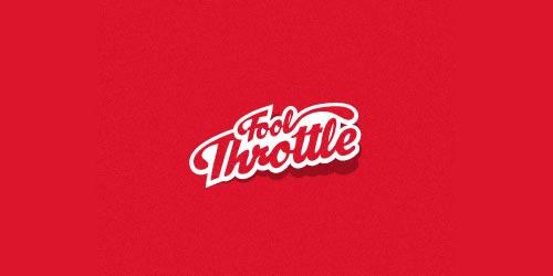 12 red creative logo Fool Throttle