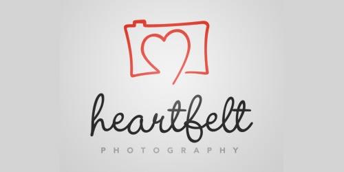 12 red creative logo Heartfelt Photography
