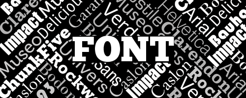 Font Typographic Design