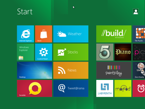 windows 8 start screenshot small Windows 8开发者预览版官方下载