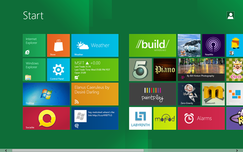 windows8 dp start screenshot Windows 8消费者预览版下载与感慨