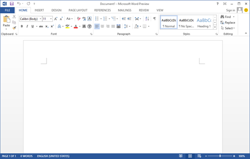 office 2013 word screenshot Office 2013 预览版试用体验