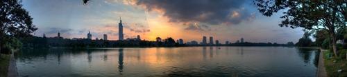 201209151801 Sunset over Xuanwu Lake