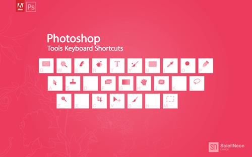 Photoshop Tools Keyboard Shortcuts Pink