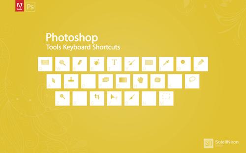Photoshop Tools Keyboard Shortcuts Yellow