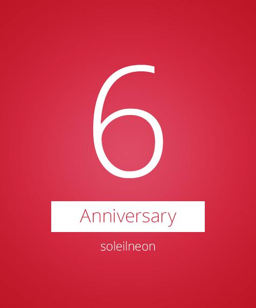 Blog 6 Anniversary