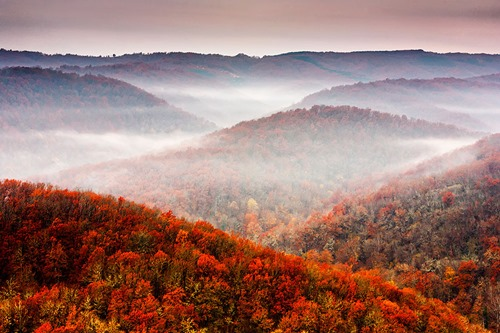 Strandzha Mountain in late autumn