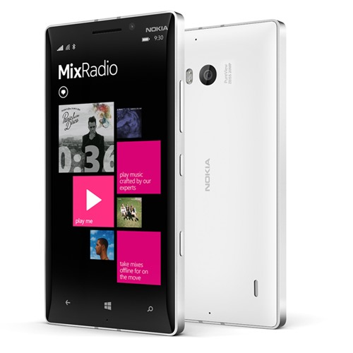 Lumia930 MixRadio in line 大爱Nokia 930