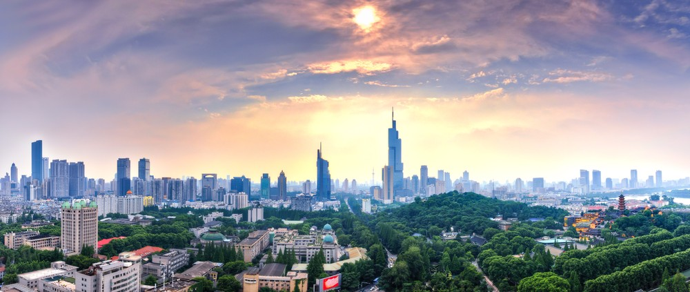 Panorama of West Nanjing City Skyline