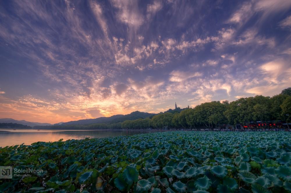 Sunset at West Lake-4