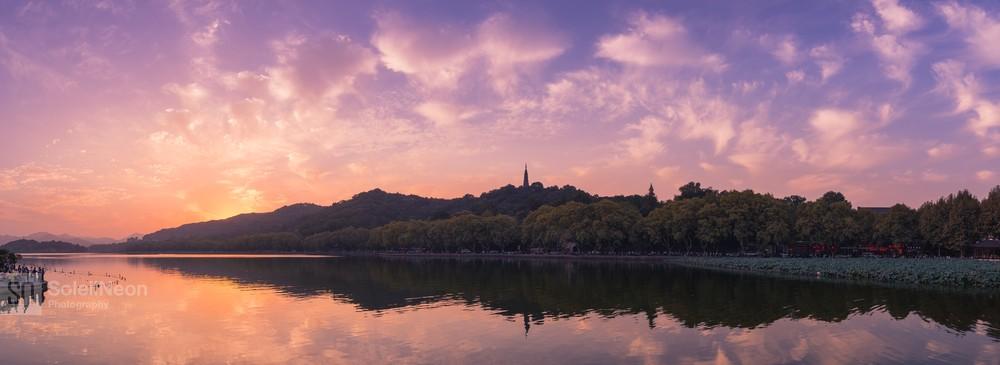 Sunset at West Lake-6