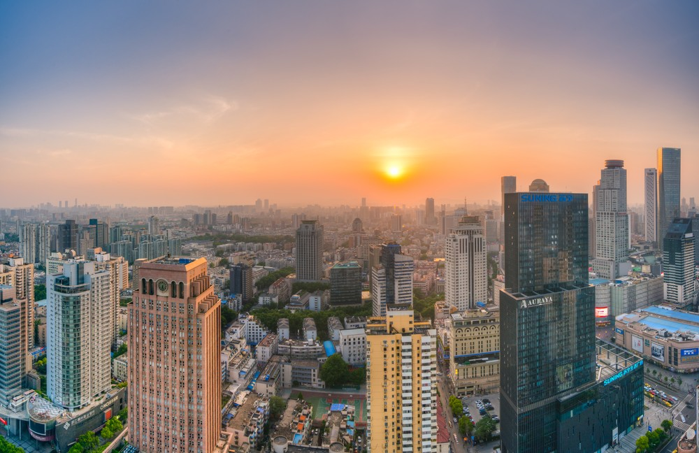 Skyline of Nanjing City at Sunset-3