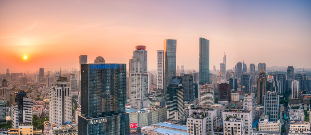 Skyline of Nanjing City at Sunset-6