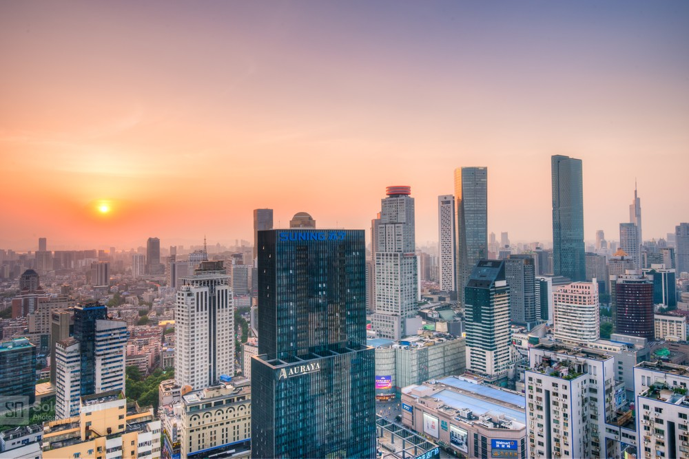 Skyline of Nanjing City at Sunset-7