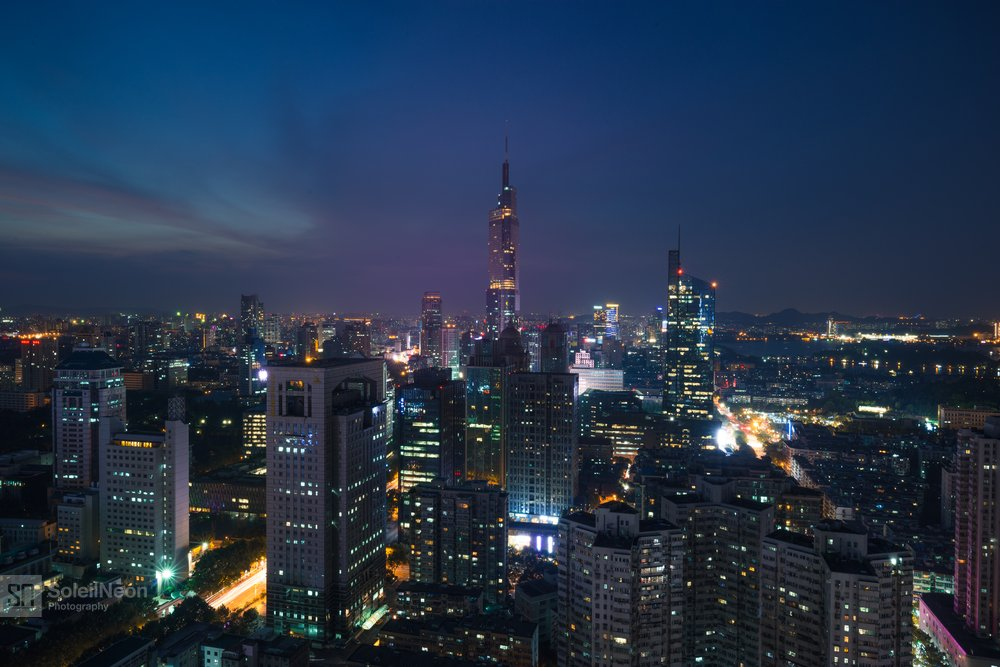 Skyline of Nanjing City at Sunset-21
